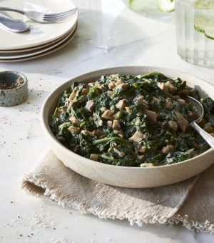 Massel Australia - Creamed Spinach with Shiitakes